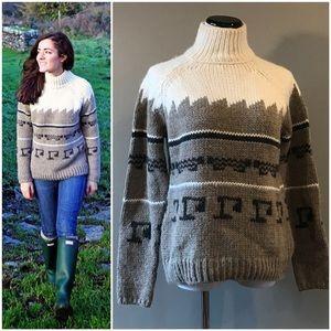 ZARA jacquard sweater in alpaca sz Med